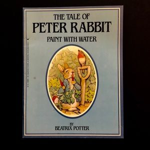 5/$25 VTG 80s Peter Rabbit Paint With Water Book